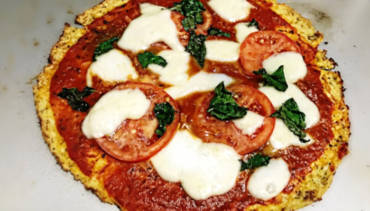Cauliflower Pizza (Don't knock it 'til you try it!)
